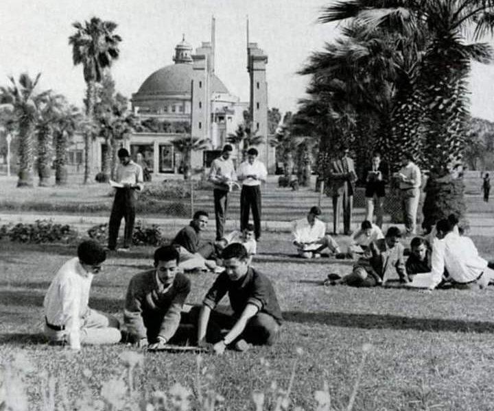 صورة نادرة| جامعة القاهرة منذ نصف قرن