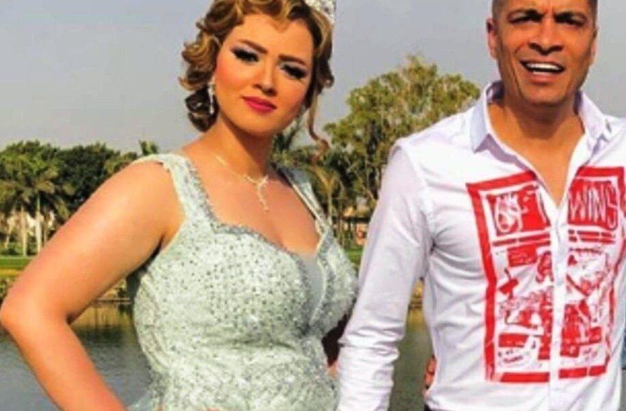 خطيبة حسن شاكوش تثير الجدل بفستان الخطوبة
