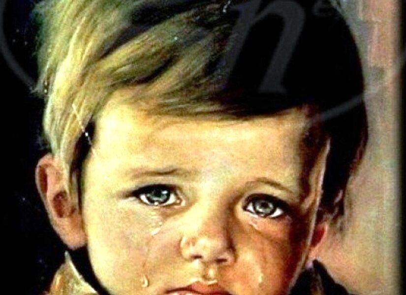 اللوحة الملعونة ضيف لا نعرفه في حجرة الصالون |The Crying Boy painting