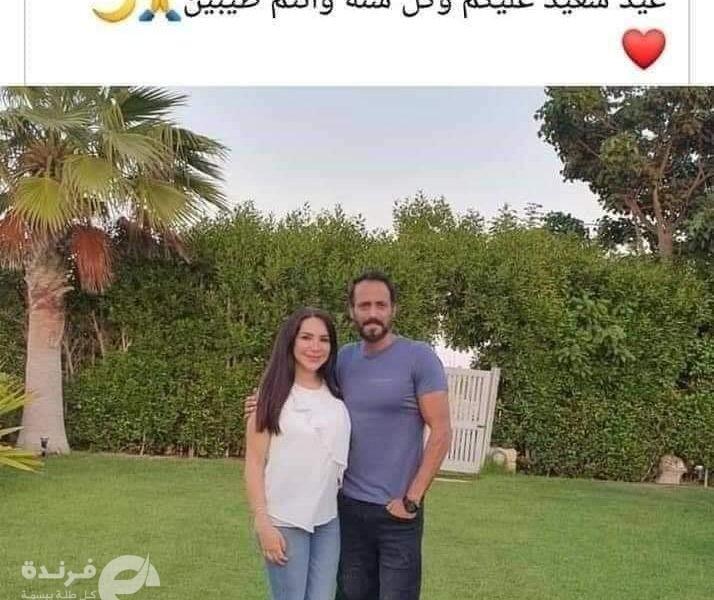 زوجة يوسف الشريف تشعل أجواء السوشيال ميديا بسبب صورة العيد