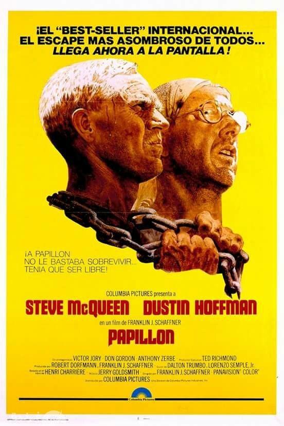 غلاف فيلم papillon بطولة ستيف ماكوين وداستن هوفمان