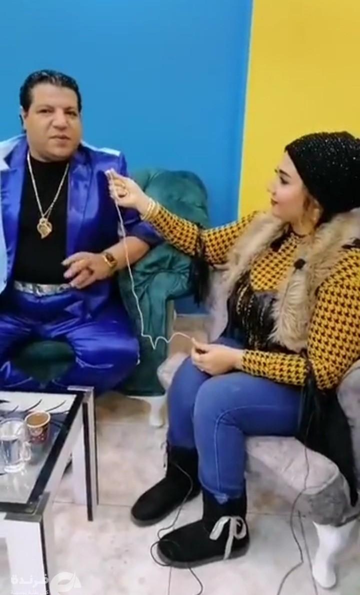 خميس شعبان عبد الرحيم يرتجل أغنية خاصة للأعلامية جي جي سالم | حوار فيديو